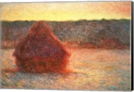 Haystacks at Sunset, Frosty Weather, 1891 Fine-Art Print