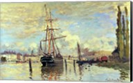 The Seine at Rouen, 1872 Fine-Art Print