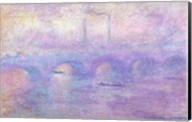 Waterloo Bridge in Fog, 1899-1901 Fine-Art Print