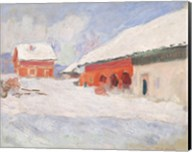 Norway, Red Houses at Bjornegaard, 1895 Fine-Art Print