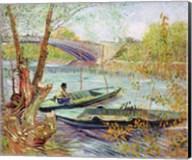 Fishing in the Spring. Pont de Clichy, 1887 Fine-Art Print