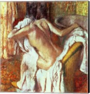 Woman drying herself Fine-Art Print