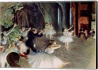 The Rehearsal of the Ballet on Stage Fine-Art Print