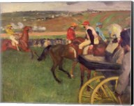 The Race Course - Amateur Jockeys near a Carriage Fine-Art Print