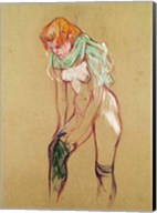 Woman Pulling Up her Stocking, 1894 Fine-Art Print