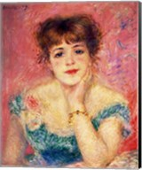 Portrait of the actress Jeanne Samary, 1877 Fine-Art Print