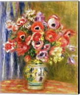 Vase of Tulips and Anemones, c.1895 Fine-Art Print