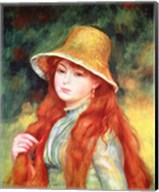Young girl in a straw hat, 1884 Fine-Art Print