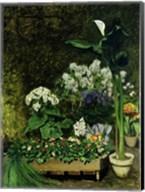 Flowers in a Greenhouse, 1864 Fine-Art Print