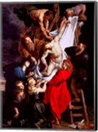 The Descent from the Cross, central panel of the triptych Fine-Art Print