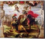 Achilles Defeating Hector Fine-Art Print