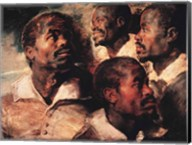 Studies of the Head of a Negro Fine-Art Print