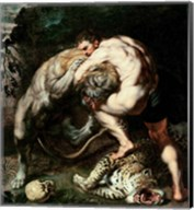 Hercules Fighting the Nemean Lion Fine-Art Print