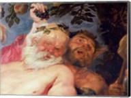 Drunken Silenus Supported by Satyrs Fine-Art Print