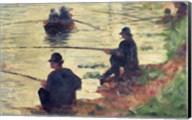 Anglers, Study for 'La Grande Jatte', 1883 Fine-Art Print