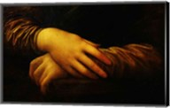 Mona Lisa, detail of her hands Fine-Art Print