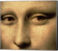 Mona Lisa, Face Detail Fine-Art Print