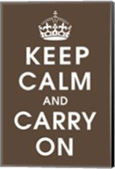 Keep Calm (chocolate) Fine-Art Print