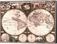 World Map, 1660 Fine-Art Print