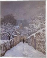 Snow at Louveciennes, France, 1878 Fine-Art Print