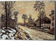 Road at Louveciennes, Melting Snow, Sunset Fine-Art Print