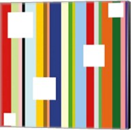 White Square on Stripe (detail) Fine-Art Print