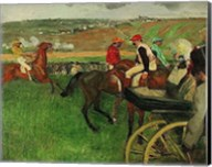 The Race Course: Amateur Jockeys near a Carriage, 1876-1887 Fine-Art Print