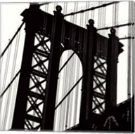 Manhattan Bridge Silhouette (detail) Fine-Art Print