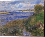 La Seine a Champrosay - Banks of the Seine River at Champrosay, 1876 Fine-Art Print