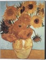 Sunflowers on Blue, 1888 Fine-Art Print