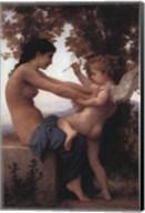 Girl Defending Herself Against Love Fine-Art Print