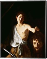 David with the Head of Goliath, 1606 Fine-Art Print