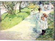 Promenaders in the garden, 1898 Fine-Art Print