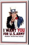 Uncle Sam  - I Want You Fine-Art Print