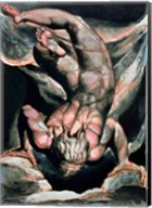 The First Book of Urizen; Man floating upside down, 1794 Fine-Art Print