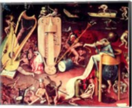 The Garden of Earthly Delights: Hell, detail from the right wing of the triptych, c.1500 - detail Fine-Art Print