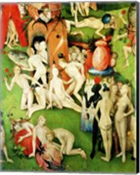 The Garden on Earthly Delights: Allegory of Luxury, central panel of triptych, c.1500 Fine-Art Print