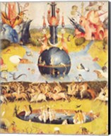The Garden of Earthly Delights: Allegory of Luxury, detail of the central panel, c.1500 Fine-Art Print