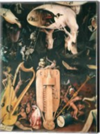 The Garden of Earthly Delights: Hell, detail from the right wing of the triptych, c.1500 Fine-Art Print
