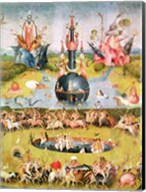 The Garden of Earthly Delights: Allegory of Luxury, central panel of triptych, c.1500 Fine-Art Print