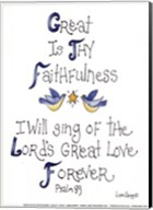 Great is Thy Faithfulness Fine-Art Print