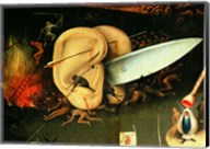 The Garden of Earthly Delights: Hell, right wing of triptych, detail of ears with a knife, c.1500 Fine-Art Print