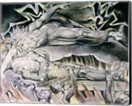 Illustrations of the Book of Job; Job's Evil Dreams Fine-Art Print