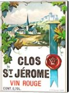 Clos St Jerome Vin Rouge Fine-Art Print