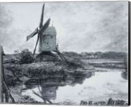 A mill on the banks of the River Stour Fine-Art Print