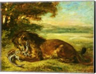 Lion and Alligator, 1863 Fine-Art Print