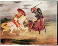 Two Knights Fighting in a Landscape Fine-Art Print