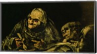 Two Old Men Eating, one of the 'Black Paintings' Fine-Art Print