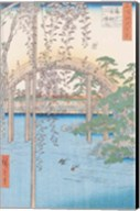 The Bridge with Wisteria or Kameido Tenjin Keidai Fine-Art Print