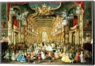 Masked Ball in the Hoftheater, Bonn, 1754 Fine-Art Print